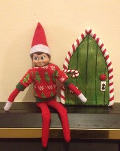Elf on the shelf- salt dough door
