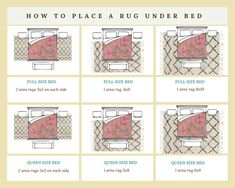 How to Place a Rug Under a Bed: Area Rug Placement rug in bedroom area rug under bed queens bed rugs for under area rug in bedroom …Area Rug Placement and Size for King Bed Option 2