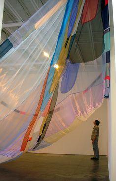 Textile Sculpture, Abstract Sculpture, Textile Art, Sculpture Art, Kasimir Und Karoline, Fabric Installation, Kansas City Art Institute, Collage Art Mixed Media, Large Art