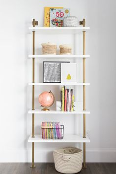 A fun shelfie for a kids playroom. Shelf styling. Colorful playroom. | Studio McGee Blog