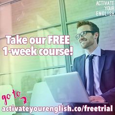 Want to take your English to the next level? Join our free 1-week trial and see how much you can improve of you take our 24-week complete course! ➡ LINK in our bio