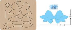 New Bow Wooden die Scrapbooking Cutting Dies Handmade Hair Bows, Diy Hair Bows, Diy Lace Ribbon Flowers, Fabric Flowers, Foam Crafts, Diy And Crafts, Bow Wood, Bow Template, Felt Bows