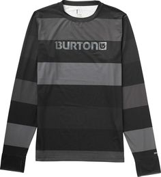 Burton Midweight Crew Baselayer Top 50 Shades Of Stripe Mens
