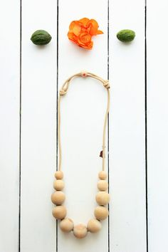 Simple Statement Necklace Unfinished wood by TheBirdsWordBoutique