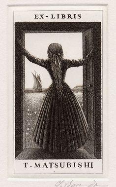 Souichi Bandou Ex Libris [via Escape Into Life] myaloysius: lieserl: liquidnight: