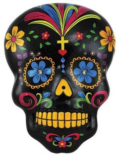 This is one of my favorites on Wiccan Supplies, Witchcraft Supplies & Pagan Supplies Experts-Eclectic Artisans: Black Day of the Dead Skull Wall Plaque Mexican Skulls, Mexican Folk Art, Mexican Crafts, Sugar Skull Art, Sugar Skulls, Day Of The Dead Skull, Candy Skulls, Skull Design, Diy Design