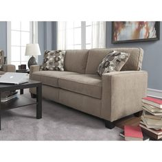 Serta RTA Santa Cruz Collection 73-inch Platinum Fabric Sofa