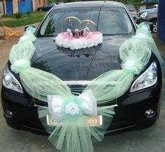 Výsledek obrázku pro украшение машин на свадьбу Wedding Car Decorations, Images, Costume, Weddings, Cars, Food Art, Searching, Embroidery, Wedding