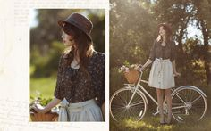 i would like to bike through a field in this outfit, on this bike, picking flowers as i go...
