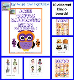 photo of some pages in the bingo game free printable - Preschool Halloween Bingo