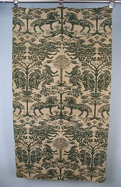 * Swedish Beiderwand Panel, c. 1690 double-woven cloth consisting of two layers of tabby weave joined only along the edges of the pattern.