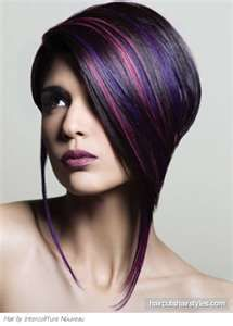 Edgy Purple Hair Highlights