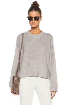 3.1 phillip lim Mixed Stitch Pullover in Putty | FWRD [1]