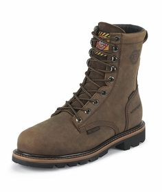 Men's Wyoming Waterproof Boot...  The Wyoming Waterproof is an 8-inch tall Men's safety toe work boot, with a composition toe that exceeds ASTM F2413-11, 175, C75 safety standards and has J-Flex Flexible Comfort System® insoles.  #picsandpalettes #countryoutfitter