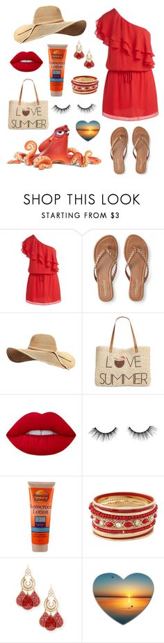 """""""Hank"""" by emma-be-awesome ❤ liked on Polyvore featuring Haute Hippie, Disney Pixar Finding Dory, Aéropostale, Style & Co., Lime Crime, tarte and Devon Leigh"""