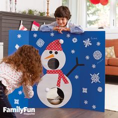 Snowman Game & Guest Board: Get guests into the spirit by setting up this multitasking game board in a prominent spot.