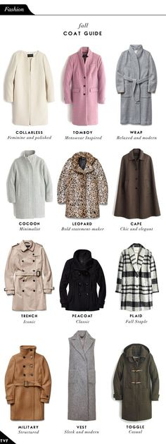 THE VAULT FILES: Fashion File: Fall Coat Guide
