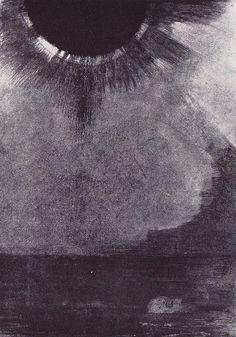 Drowning under a black sun / Odilon Redon