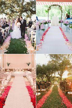 ombreaisle04-sides Wedding Church Aisle, Wedding Aisle Decorations, Crystal Wedding, Wedding Flowers, Wedding Arches, Here Comes The Bride, Wedding Inspiration, Wedding Ideas, Dream Wedding