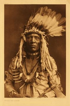 """a very dignified African American Indian war chief. The caption reads: """"Piegan Black Indian Warrior"""""""