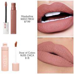 ❗️d u p e p r o o f❗️ some new new on a budget seductress Drugstore Makeup Dupes, Lipstick Dupes, Beauty Dupes, Beauty Makeup, Lipsticks, Makeup Tips, Lipstick Shades, Kiss Makeup, Love Makeup