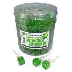 Green Apple Cube Lollipops 50 Count - Lollipops