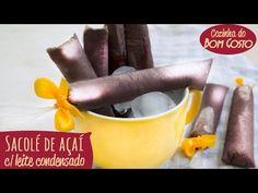 Sacolé / Geladinho / Chup-Chup RECHEADO - Açaí com Leite Condensado + RE... Ice Cream, Youtube, Vegetables, Sweet, Food, Club, Sorbet, Rice, Fruit