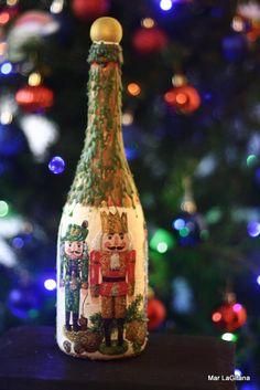 Botellas navideñas.