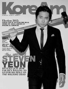 Steven Yeun as Glenn on The Walking Dead