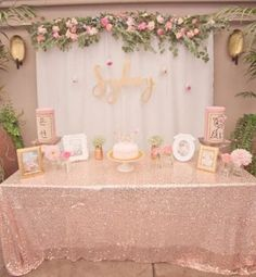 Pink + Gold Bohemian Dohl Birthday Party Find inspiration everywhere in this beautifully chic pink and gold bohemian dohl birthday party at Kara's Party Ideas. Take a minute and see it all here! Shower Party, Baby Shower Parties, Baby Shower Themes, Shower Ideas, Gold Birthday, 21st Birthday, Birthday Parties, Birthday Ideas, Birthday Brunch