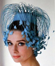 Audrey Hepburn in Givenchy. Audrey Hepburn photographed by Howell Conant at her home in Switzerland for a fashion editorial, Feb Ms. Hepburn's hat was made specially for her by fashion designer and friend, Hubert de Givenchy Audrey Hepburn Hut, Audrey Hepburn Givenchy, Givenchy Hat, Crazy Hats, Wearing A Hat, Belle Photo, Hats For Women, Vintage Fashion, Breakfast At Tiffanys