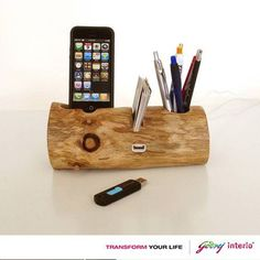 an eco friendly way to keep the office accessories.
