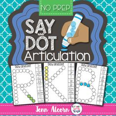 Say and Dot Articulation is a no prep activity for all of the students on your caseload!   Easily use with bingo daubers, crayons/markers, or bingo chips.  These pages also make great homework!This download includes pages targeting the phonemes:  /r, s, l, v, th, ch, sh, k, g, b, p, m, n, t, d, f, dj, h/ Each phoneme is is targeted in the initial, medial and final positions (except /h/, which is initial and medial only), plus blends for /s, l, r/.