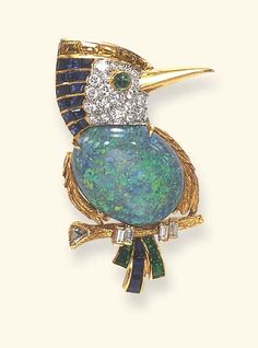 Multi-gem Bird Brooch, Cartier