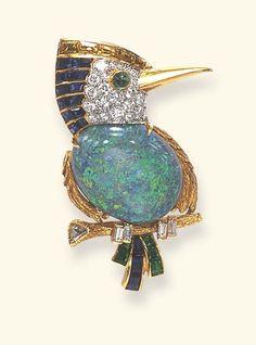 Multi-gem Bird Brooch, Cartier