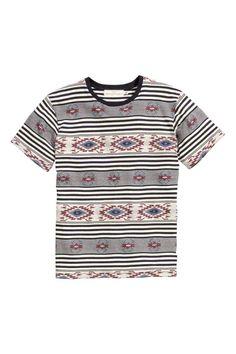 T-shirt con motivo jacquard | H&M