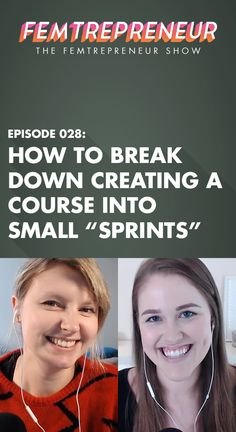 """Wondering what a sprint is? We're not talking about the 10 meter dash you did in grade school. In this episode, we're talking about how to plan your own two week """"sprints"""" so you can stay focussed in your work and get huge projects done. Have a big launch coming up, a sales pages to be written, or need to plan and produce your content for the next quarter? Sprints are the answer!"""