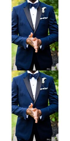 710316ff805f 2017 new royal Blue Notched Collar Groom men suit Formal Occasion terno  smoking masculino Prom Groomsmen