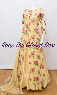 indian clothing ONLINE USA Silk brocade top with golden embroidery with matching bottom and dupatta Indian Party Wear Gowns, Indian Gowns Dresses, Party Wear Dresses, Bridal Dresses, Indian Wear, Lehenga Gown, Anarkali Dress, Anarkali Suits, Saree