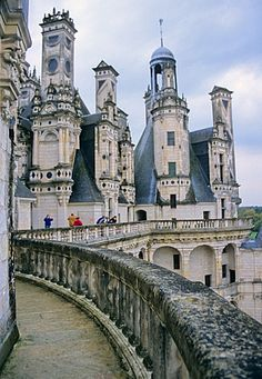 Chambord, one of the castles built by Francois the 1st. Inspired by the Italian Renaissance.