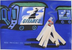 Title: Gitanes Cigarette Advertisement (Original) /  Origin/Date: France c. 1960…