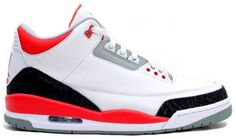 check out 1427f 54220 authentic Air Jordan Retro 3 White Fire Red-Neutral Grey-Black for sale  online,buy ne air jordan 3 shoes with high quality.