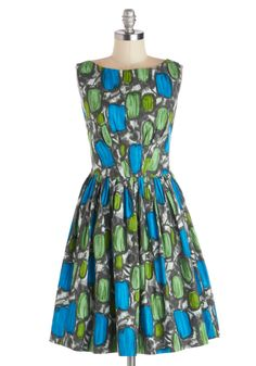 Emily and Fin Daytrip Darling Dress in Abstract | Mod Retro Vintage Dresses | ModCloth.com