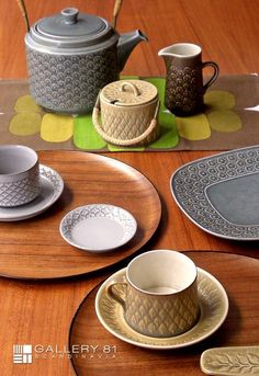Kronjyden - Danish ceramic studio works - circa 1950 to 80. Designed by Jens H. Quistgaard.