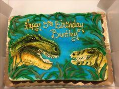 Buttercream dinosaurs cake