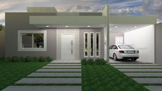 Modern House Facades, Modern Architecture, Roof Design, Window Design, Home Building Design, Building A House, Front House Landscaping, Modern Small House Design, House Entrance