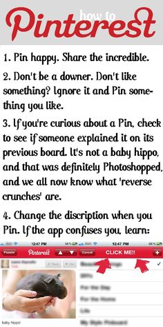 "How to Pinterest! So many people ask how, and it would do us ""veteren pinners"" some good to reread the guidelines! :-)"