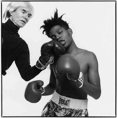 knock out punch, andy warhol & jean-michel basquiat - michael halsband, 1985 ['moments in pop culture & the everyday: an interview with michael halsband' - whitehot magazine article, Jean Michel Basquiat, Basquiat Artist, Jm Basquiat, Andy Warhol, Jasper Johns, Robert Rauschenberg, Robert Doisneau, Roy Lichtenstein, Keith Haring