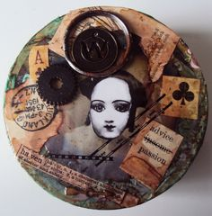 Debrinas Altered Art Diary - altered tin