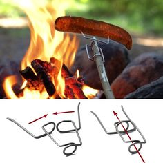 Light My Fire Grandpa's FireFork Campfire Roasting Accessory - attaches firmly to practically any stick, to grill marshmallows, hot dogs or just about anything else. Comes with a classic Light My Fire safety cap for easy and secure storage. Made of stainless steel wire to last and last.